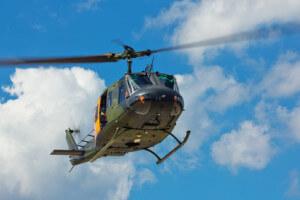 Hubschrauber für den Krankenrücktransport aus dem Ausland